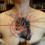 Abstract Heart Trash Polka tattoo by Xoïl