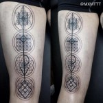 Abstract Signs Blackwork tattoo by MXM