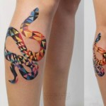 Abstract Snake tattoo by Sasha Unisex