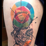 Abstract Time Machine tattoo by Live Two
