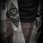 Abstraction Geometry Dotwork tattoo by Ien Levin