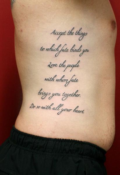 Accept the things lettering tattoo by skin deep art best for How deep is a tattoo