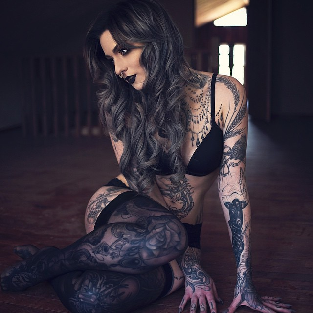 Adoarable Ryan Ashley Malarkey and her tattoos