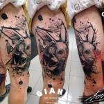 Alice In Wonderland White Rabbit tattoo by George Drone