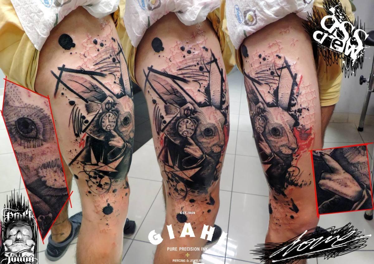White Rabbit Tattoo Alice In Wonderland - Tattoo Alice Im Wunderland