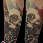 Alice in Wonderland Hare tattoo by Piranha Tattoo Supplies