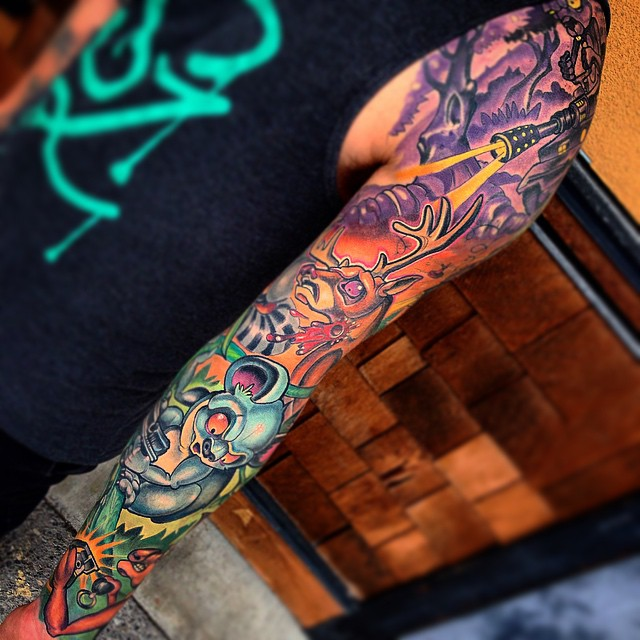 Amazing Colourful tattoo sleeve