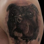 Amazing Realistic Dog tattoo by Piranha Tattoo Supplies