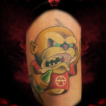 Anarchy Rebel New School tattoo by Hellyeah Tattoos