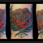 Anchor Rose tattoo by Jack Gallowtree