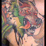 Angry Crazy Dog tattoo by Live Two