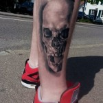 Angry Yelling Skull tattoo by Goran Petrovic