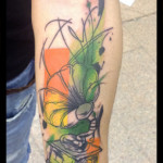 Aquarelle Gramophone tattoo by Live Two