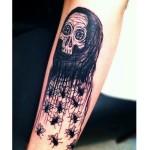 Arm Many Flies Death tattoo by Jason Middelton