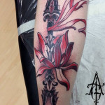 Arrow Flower tattoo by Agat Artemji