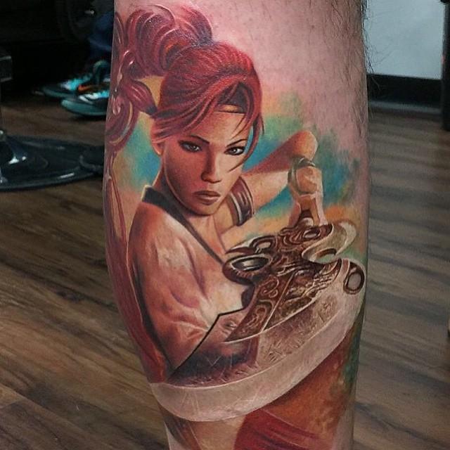 Asian Fighter Realistic tattoo Rember Orellana