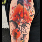 Autumn Tree Trash Polka tattoo by Live Two
