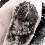 B & G Make-Up Flowed Notre Dame tattoo by Nikolas Darkside