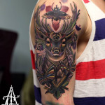 Bug Third Eye Buck Moth tattoo by Agat Artemji