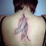 Back Feather tattoo by Goran Petrovic