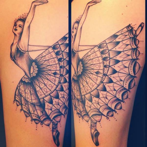 Ballerina Baroque tattoo by Sarah B Bolen