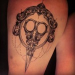 Baroque Scissors tattoo by Sarah B Bolen