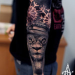 Baseball Lion Graphic tattoo by Agat Artemji