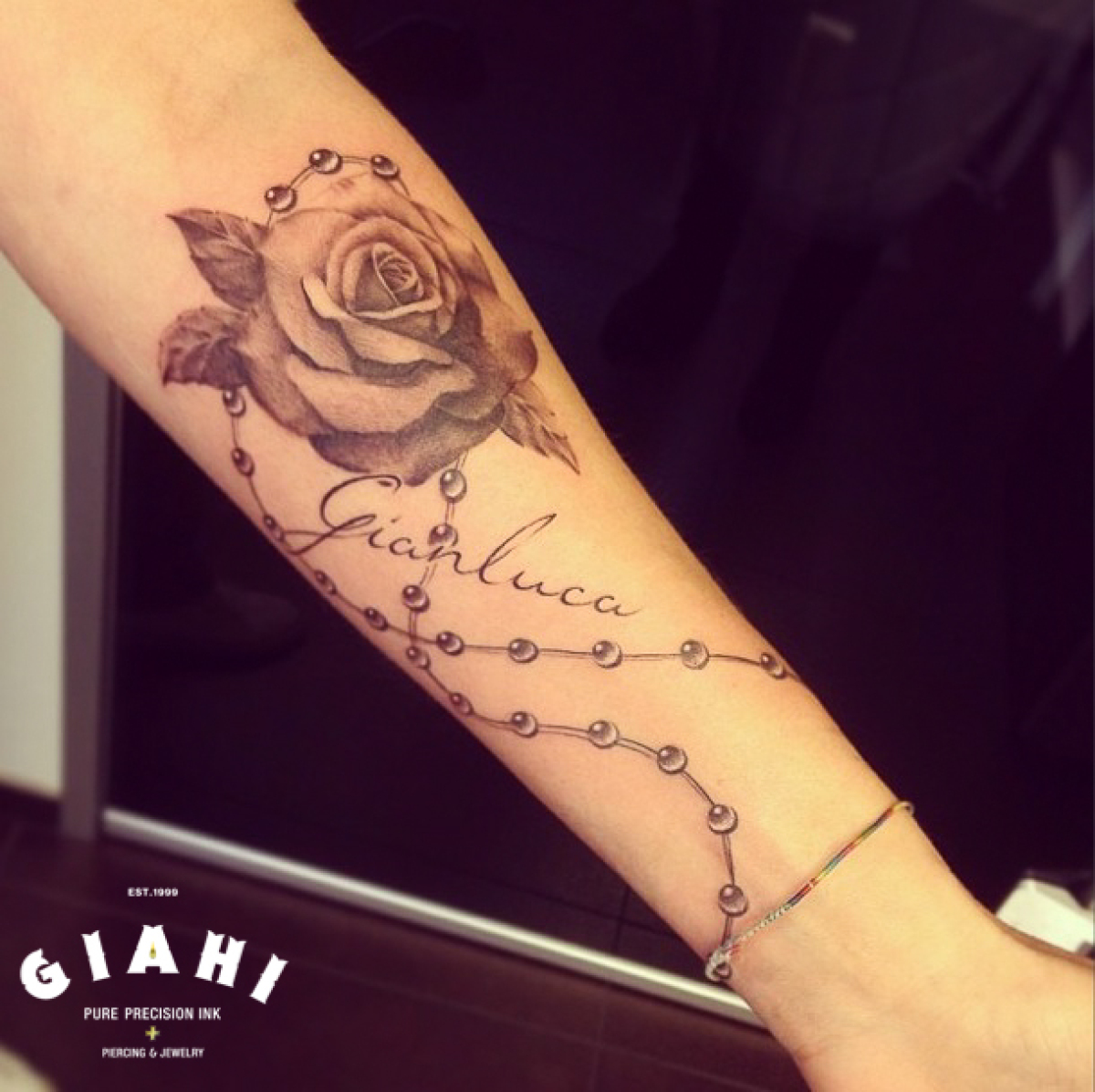 041276e6fac57 Beads Rose Graphic tattoo by Roony | Best Tattoo Ideas Gallery