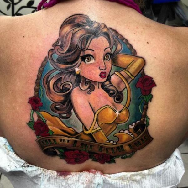 Beauty Girl Till The Last Petal Falls Lettering tattoo by Tantrix Body Art