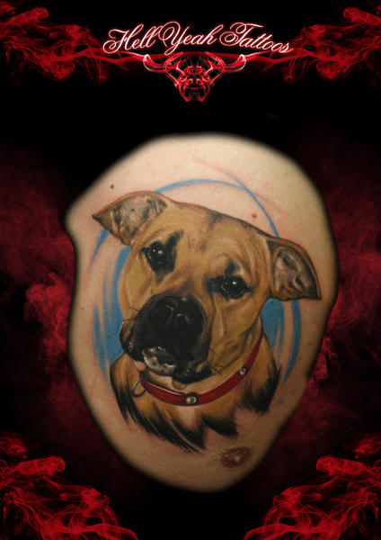 Best Pal Dog Realistic tattoo by Hellyeah Tattoos