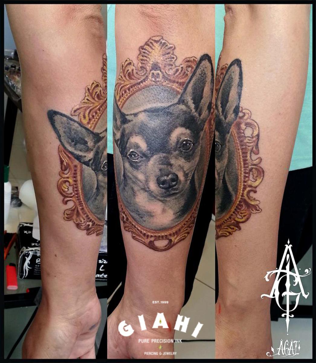 Big Eyes Cihuahua tattoo by Agat Artemji