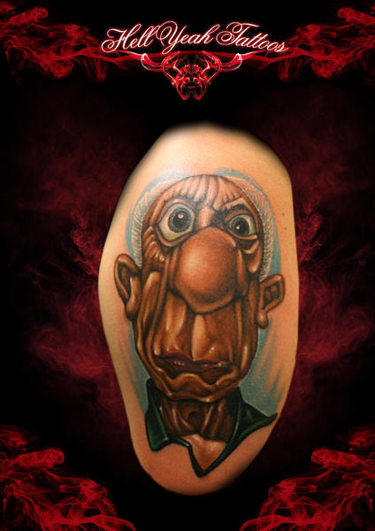 Big Nose Cartoon Man tattoo by Hellyeah Tattoos