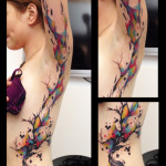 Big Paint Splash Tree Aquarelle tattoo by Live Two