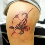 Black Line Graphic Scorpion tattoo by Nazo