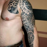 Blackwork  Maori tattoo sleeve by Piranha Tattoo Supplies
