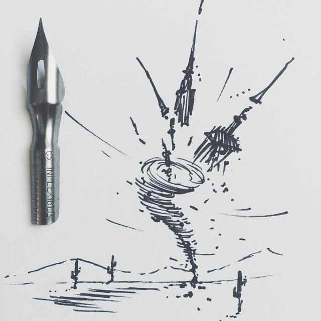 Blackwork Tornado tattoo idea by Thieves & Co.