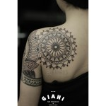 Blade Mandala Dotwork tattoo by Elda Bernardes