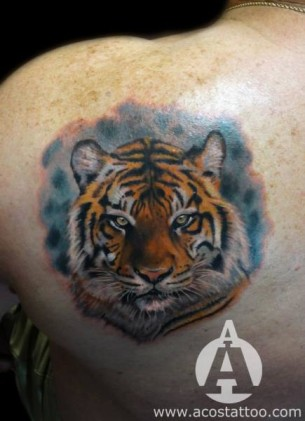 Blade Realistic tiger tattoo by Andres Acosta