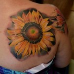 Blade Sunflower tattoo by Piranha Tattoo Supplies