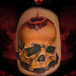 Blood Wax Candle Skull tattoo by Hellyeah Tattoos
