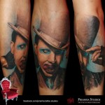 Blue Eyes Realistic Marlin Manson tattoo by Piranha Tattoo Supplies