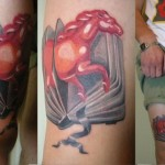 Book Pages Horse 3D tattoo by Sasha Unisex