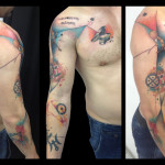 Boy and Anvil Trash Polka tattoo by Live Two