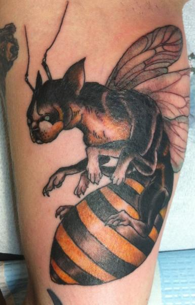 1ffbc1e6e3212 Bulldog Bee Abstract tattoo by Three Kings Tattoo | Best Tattoo ...