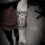 Bullterrier Mash up Dotwork tattoo by Ien Levin