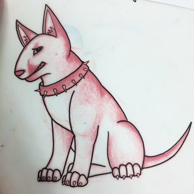 Bullterrier tattoo idea by Drea Darling