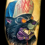 Bully Panther tattoo by Jack Gallowtree