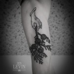 Bush Grass Hand Dotwork tattoo by Ien Levin
