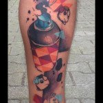 Can in Squares Aerosole tattoo by Live Two