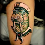 Captain Warlus Nautical tattoo Portrait